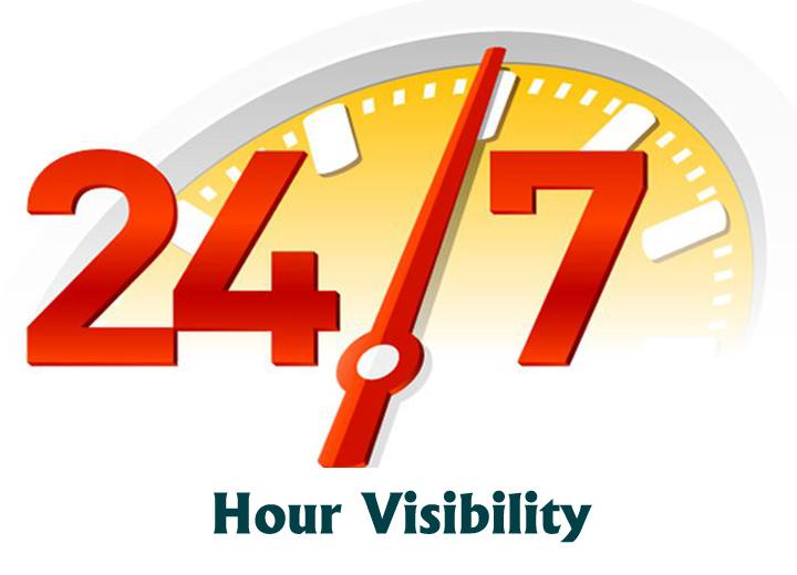24X7 Hour Visibility